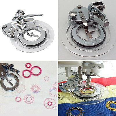 Hot Flower Stitch Embroidery Presser Foot for Brother Janome Juki Sewing Machine