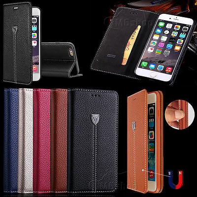 Magnetic Luxury Leather Case Wallet Flip Card Cover For Apple iPhone 6S/7/Plus