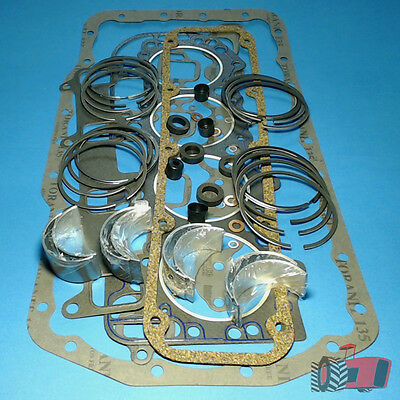 "RRK3556 Ring & Bearing Kit Ford 5000 6Y Tractor w BSD444 4Cyl Diesel 4.4"" Engine"