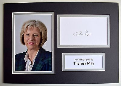 Theresa May Signed Autograph A4 photo display Conservative Prime Minister & COA