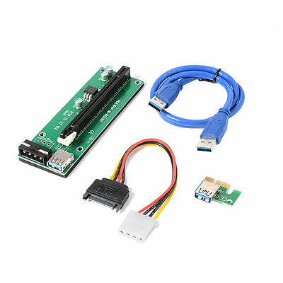 USB 3.0 PCI-E 1X To 16X Extender Riser Carte Adaptateur Power Câble Mining AC330