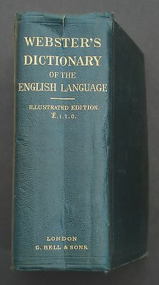WEBSTER'S DICTIONARY OF THE ENGLISH LANGUAGE (Hardback 1888) Antique Illustrated