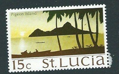 ST.LUCIA SG283 1970 15c PIGEON ISLANDS  MNH