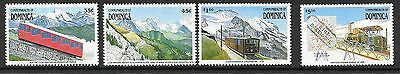 Dominica Sg1397/404 1991 Cog Railway  Part Set  Mnh