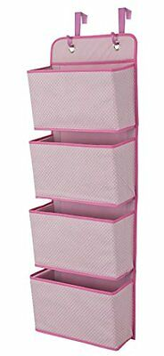 Delta Children 4 Pocket Hanging Wall Organizer Barely Pink Perfect New