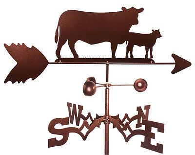 SWEN Products Cow and Calf Weathervane with Roof Mount