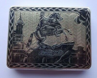 Russian Silver Snuff Box Extremely High Grade