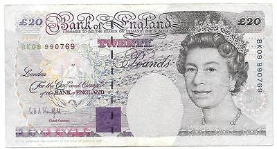 Extra Fine Great Britain 1993 20 Pounds Note, Cat. # 384B, XF - P135