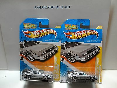 2011 Hot Wheels #18 Grey Back to the Future Time Machine Large & Small Logo Base