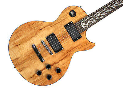 Electric Guitar LP Style With Spalted Maple Top