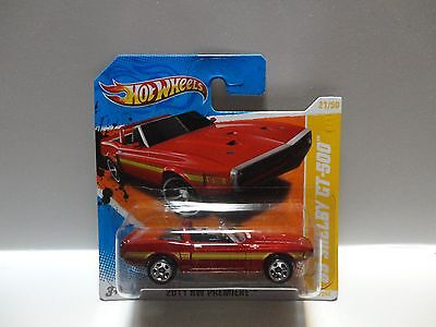 2011 Hot Wheels #21 Red '69 Shelby GT-500 w/5 Spoke Wheels Short Card