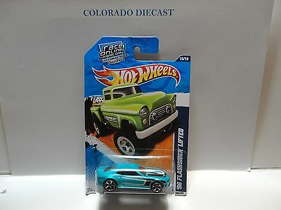 2011 Hot Wheels #140 Aqua Chevy Camaro Concept in Wrong Package