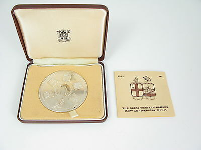 Rare The Great Western Railway 150Th Anniversary Medal- Solid Silver- Gwr