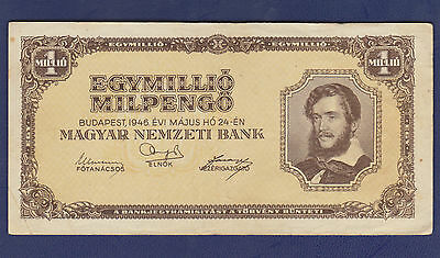 Hungary 100,000,000 Pengo Banknote In Vf Condition (1946) P-124