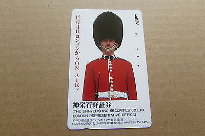 Irish Guards Guardsmen Soldier Army On Used Phonecard From Japan