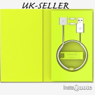WSKEN Silver Micro USB Magnetic Adapter Charger Cable for iPhone7/6/5/Android