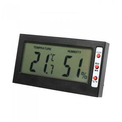 Digital LCD Indoor Temperature Thermometer Humidity Hygrometer Clock Meter