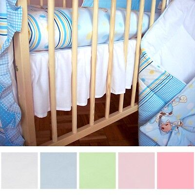 Flat Baby Valance Sheet 100% Cotton For Cot 120x60 Bed 140x70 Crib 90x40 Cradle