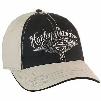 Harley-Davidson Womens WillieG Lustrous Embroidered Stretch Fit Baseball Cap Hat