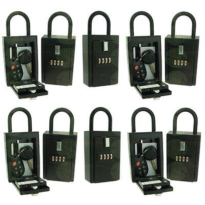 10 Lockboxes Key Card Storage Lockbox 4 Digit Realtor Lock Box with Hinged Door
