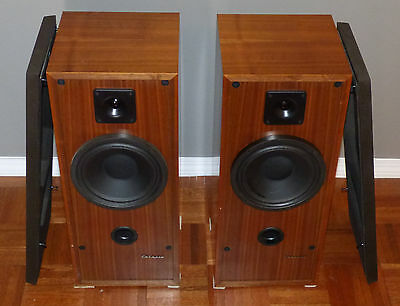 Cabasse Brick Surf 100 Audio Speakers Pair Walnut France Vintage