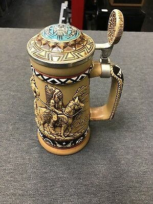 Avon Beer Stein HandCrafted Indians of the American Frontier #930343 (used)