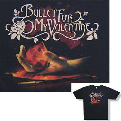 Bullet For My Valentine! Rose In Hand T-Shirt Xs New!
