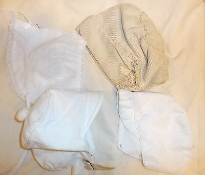 VINTAGE Baby/Baby DOLL bonnets-hats LOT 4 pieces