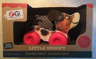 NEW IN BOX Basic Fun Fisher-Price Little Snoopy Toy FAST FREE SHIP