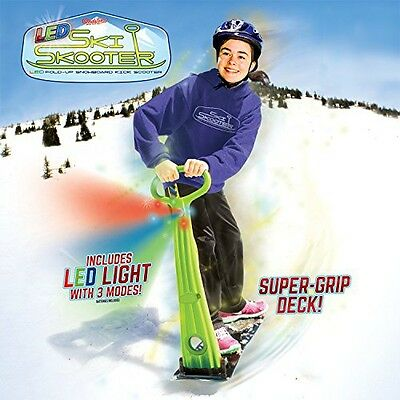 GeoSpace Original Ski Skooter: Fold-up Snowboard Kick-Scooter for Use on Snow