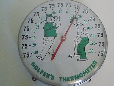 Vintage Golfer's Thermometer Ohio Thermometer Co Jumbo Dial 12""