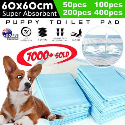 Puppy Pet Dog Indoor Cat Toilet Training Pads Absorbent 60x60cm 50/100/200/400