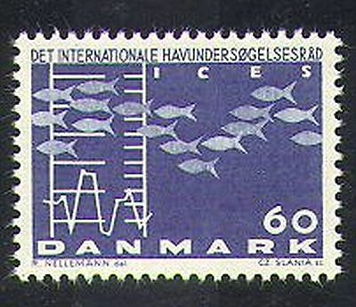 Denmark 1964 Fish/Chart/Graph/Sea Exploration Conference 1v (n37378)