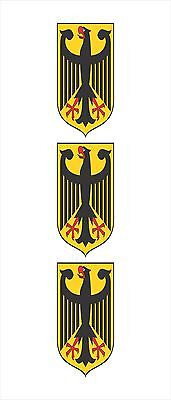 3 - German Germany Coat of Arms Flag Hard Hat Motorcycle Helmet Sticker HS1027
