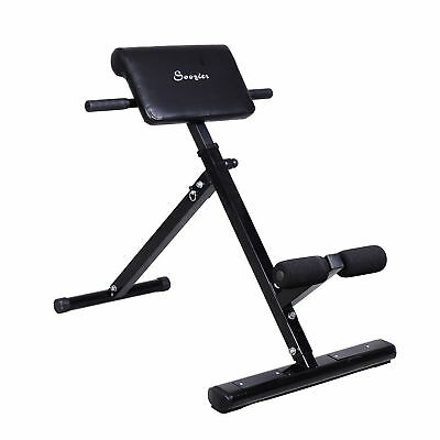 Folding Back Hyper Extension Bench Roman Chair Gym Fitness Exercise Equipment