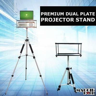 Premium Portable Tripod Adjustable Stand Projector Notebook 52-140cm Dual Plate