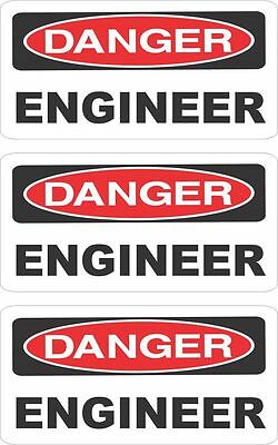3 Danger Engineer  Helmet/hard Hat/toolbox/lunch Box Sticker Hs-1000