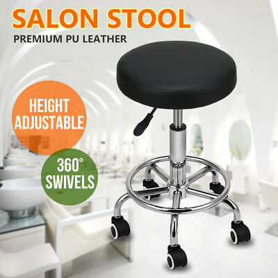 Hairdressing Salon Chair Round PUEquipment SwivelLift Stool BarberBeauty AU