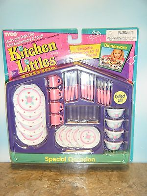 Tyco Kitchen Littles Special Occasion Dinnerware Set  *new*
