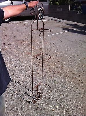3-Tier Metal Iron Plant Stand (Round Holders) 5 Feet Tall