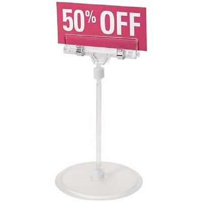 """12 Pack SMALL SIGN HOLDERS 6.1"""" With Stand Clear Clip Sign Display Darice Brand"""