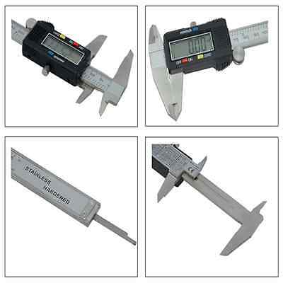 "Stainless Steel Electronic Digital Vernier Caliper Micrometer Guage LCD 4"" 6"" J1"