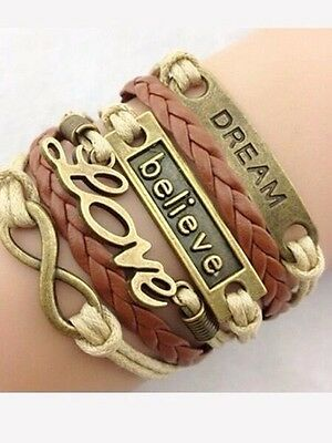 Bronze Leather Braided Leather Woven Bracelet **FAST SHIPPING**