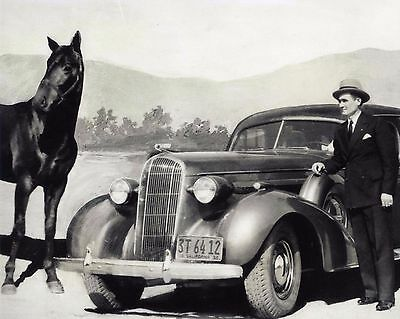 1930s Buick Dealer Charles Howard W/ Seabiscuit 8X10 Photo