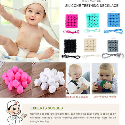 Cute Infant Baby Kids Silicone Teething Teether BPA-Free Beads Chain Chew Toy US