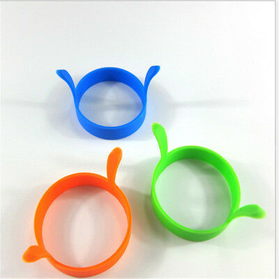 2Pcs Silicone Fried Frier Oven Poacher Pancake Egg Poach Ring Mould Kitchen