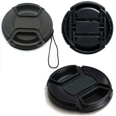 55mm Center Pinch Snap on Front Lens Cap Cover for Canon Nikon Sony DC DSLR