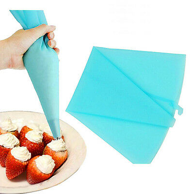Silicone Reusable Icing Piping Cream Pastry Bag DIY Cake Decorating Tool 3 Sizes