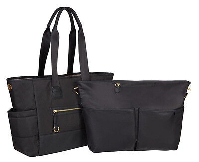 Skip Hop Chelsea 2-In-1 Downtown Chic Baby Diaper Bag Tote w/ Changing Pad Black