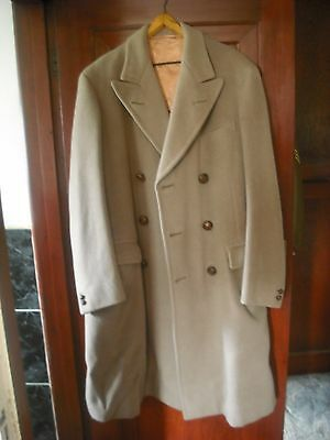 """Ww1 Ww2 And  Later  British Officers """"warm """" Long Overcoat Coat  Beige / Fawn"""